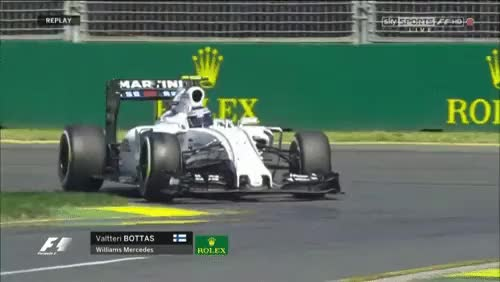 Watch Bottas in slow motion at turn 1 in FP1 - Australia 2015 (reddit) GIF by @cubejam on Gfycat. Discover more Formula1GIFS, formula1 GIFs on Gfycat