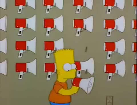 Watch and share Megaphone GIFs and Simpsons GIFs on Gfycat