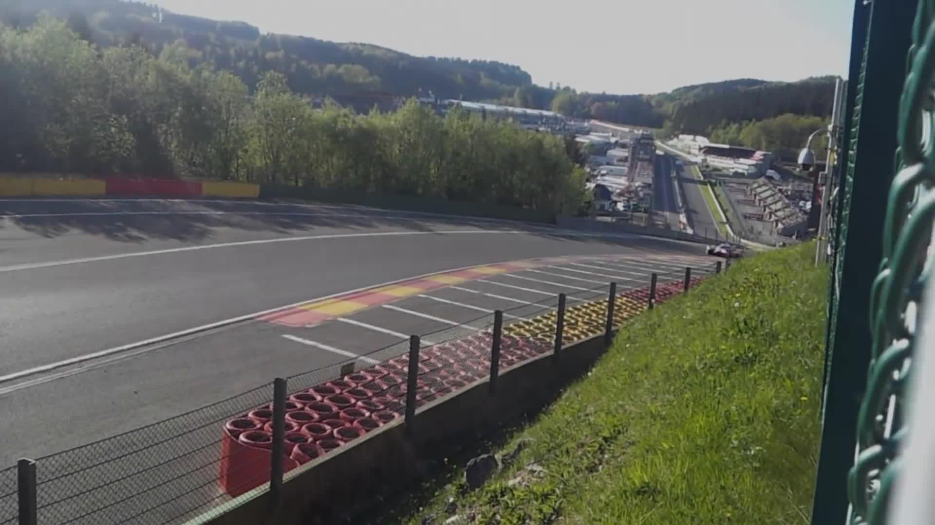 FIA WEC 2018 Spa Francorchamps Crash #17 BR Engineering BR1-AER Eau Rouge GIFs