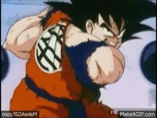 combinedgifs, The Power of Goku (reddit) GIFs
