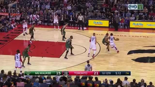 Watch Milwaukee Bucks  Toronto Raptors (12.12.2016) GIF on Gfycat. Discover more related GIFs on Gfycat