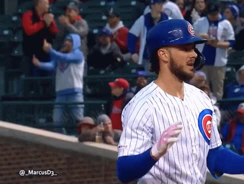 Watch and share Cubs Fan Double Bird Behind Kris Bryant GIFs by MarcusD on Gfycat