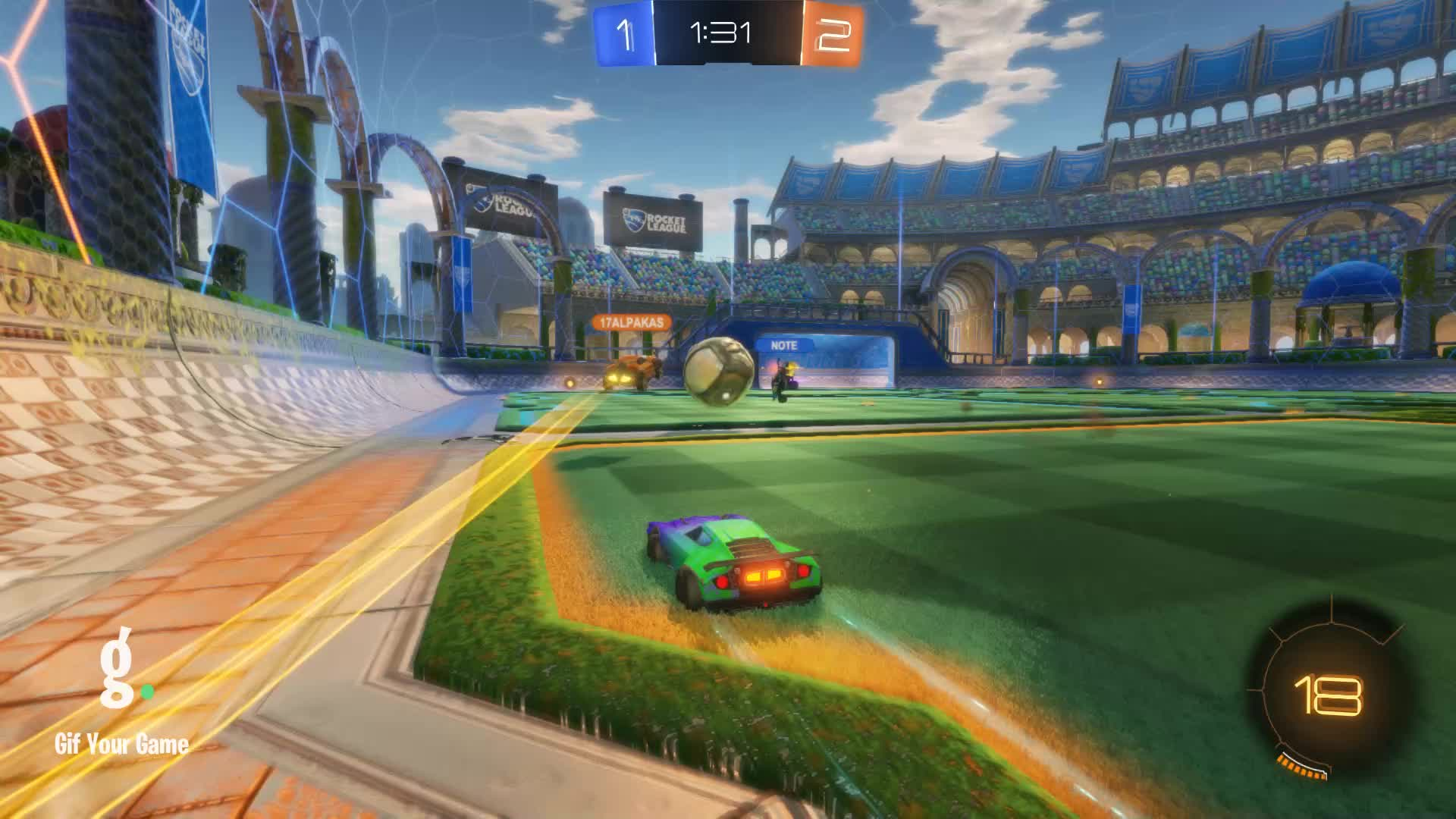 Gif Your Game, GifYourGame, Rocket League, RocketLeague, datboi, Save 4: datboi GIFs