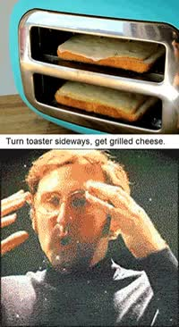Watch and share Mashable Com Content Uploads Grilled CHeese Toaster GIFs on Gfycat