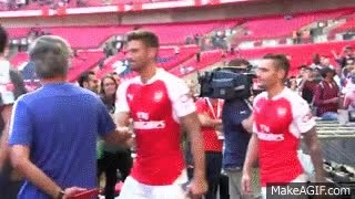 Watch and share Mourinho And Wenger, No Handshake GIFs on Gfycat