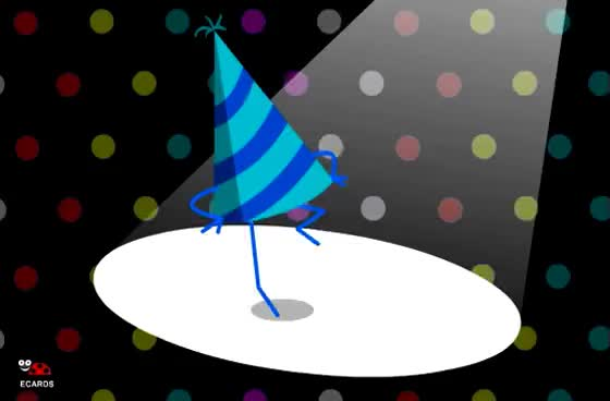 Happy BirthDay Cool Animated Dancing Disco Ecard GIF
