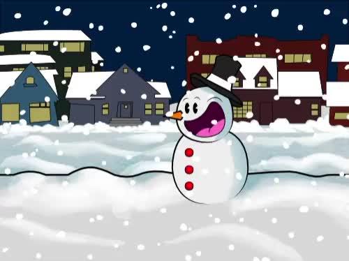 Snowman Watercolor x Vector