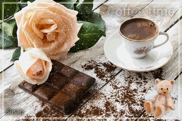 Watch Time caffe GIF by Susan (@susanlu4esm) on Gfycat. Discover more Caffe, cafe, rose GIFs on Gfycat