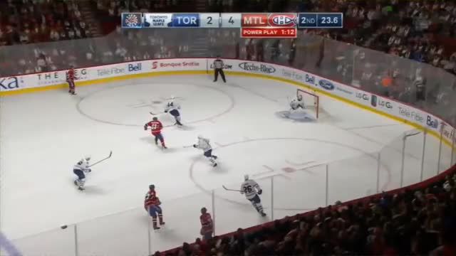 Watch and share Brendan Gallagher Redirection Goal Off Slap Pass From Subban Vs Toronto 5-2 (10/24/15) GIFs by markcharris5 on Gfycat