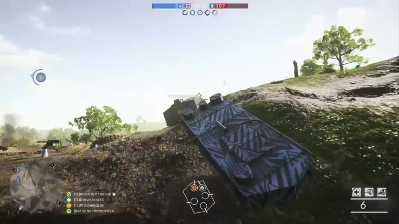 Battlefield One - NIce Tank vs Bomber kill GIFs