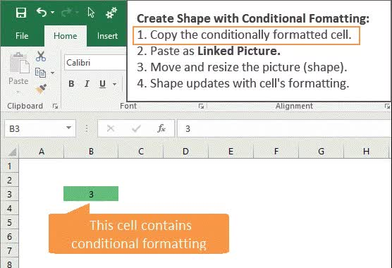 Watch and share Create Shape With Conditional Formatting In Excel GIF GIFs on Gfycat