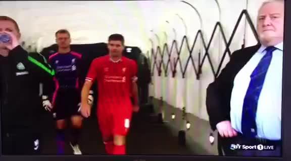Watch and share Steven Gerrard Shoves Neil Lennon GIFs on Gfycat