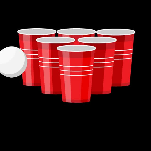 Beer Pong Sticker GIF by Animated Stickers (@gfycatstickers)   Find