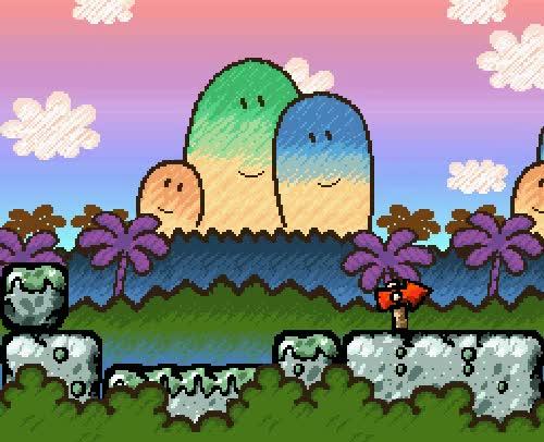 Watch and share My Gif Gaming Beautiful Nintendo Yoshi Yoshi's Island Gif:yoshi GIFs on Gfycat