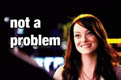Watch and share Emma Stone GIFs and No Problem GIFs on Gfycat