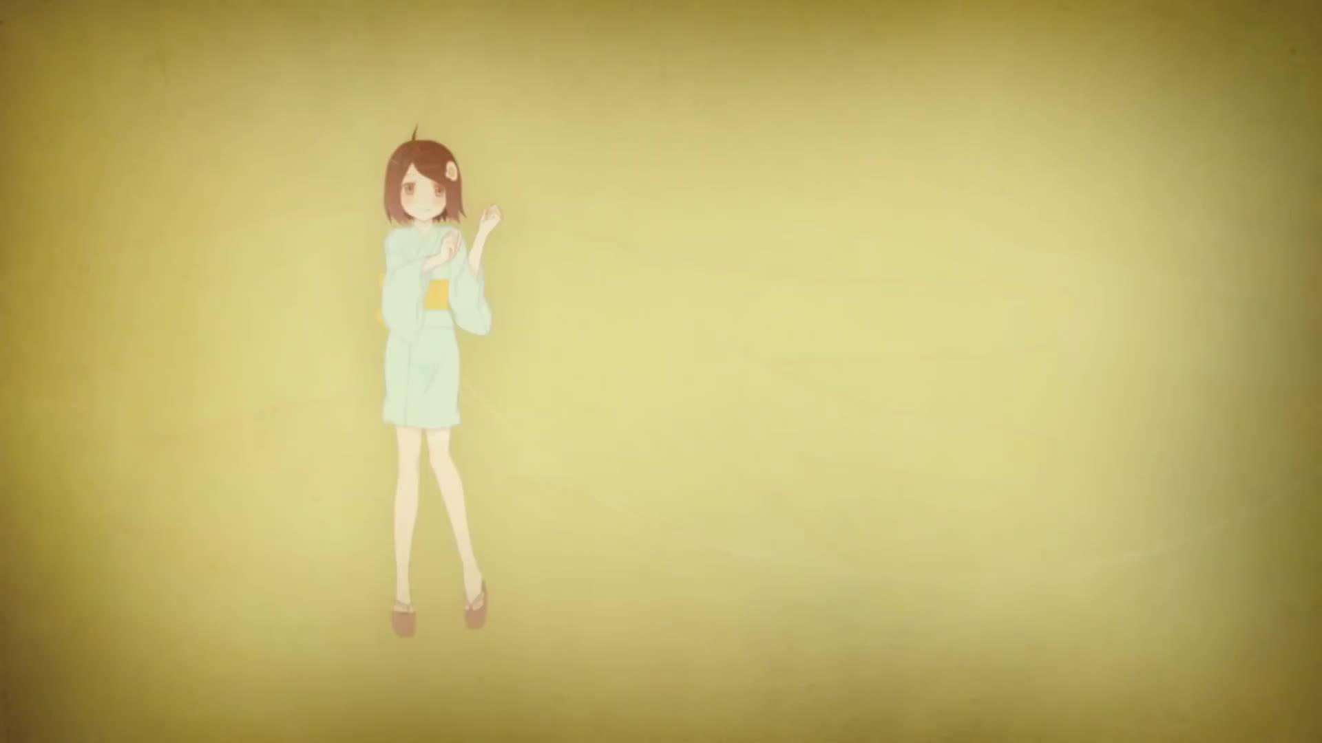 Воздушный поцелуй гифка от женщины аниме