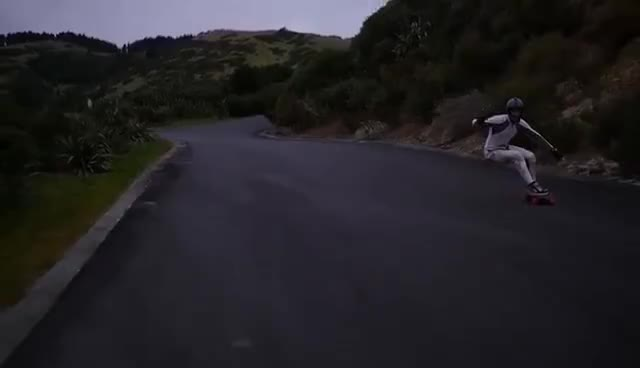 Longboarding: 91kph From the Top GIFs