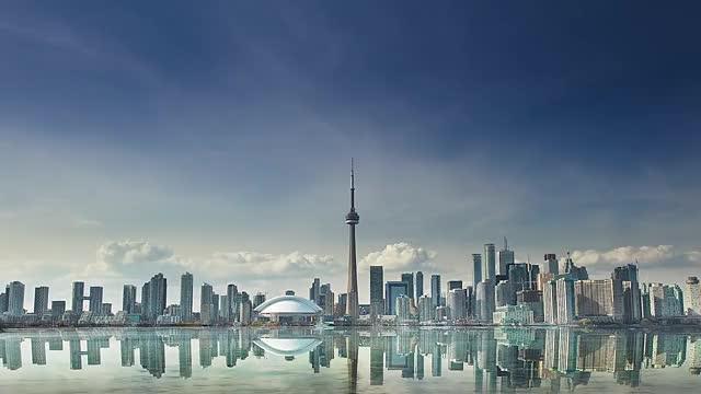 Watch and share Toronto Skyline Day To Night Loop GIFs on Gfycat