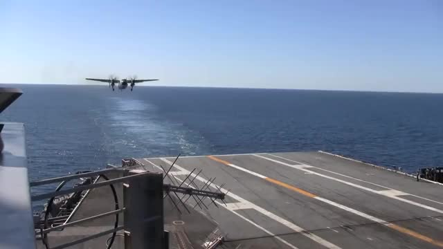 Watch C-2A Greyhound landing on USS John C. Stennis GIF by @sepillots on Gfycat. Discover more activision, militarygfys, stennis GIFs on Gfycat