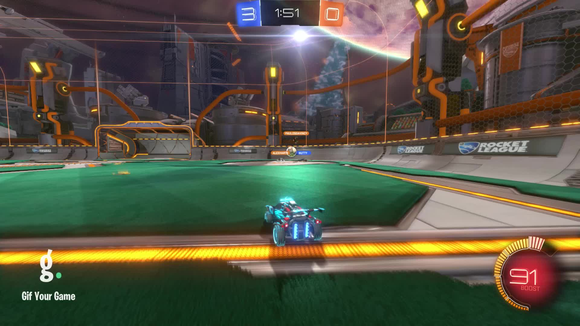 Gif Your Game, GifYourGame, Goal, OliBoi, Rocket League, RocketLeague, Goal 4: Nutty GIFs