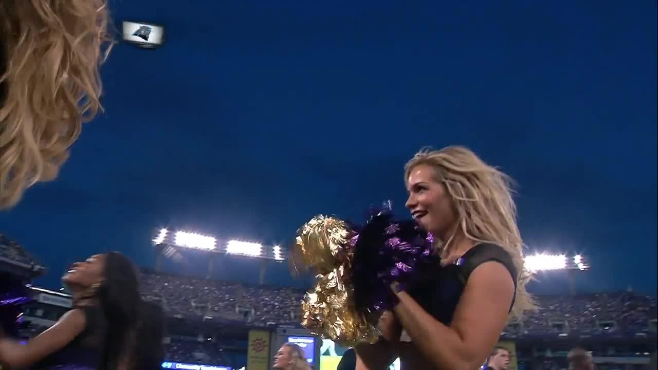nfl, smile, Baltimore Ravens cheerleader GIFs