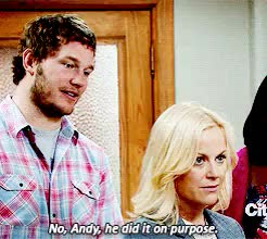 Watch and share Leslie Knope GIFs and Andy Dwyer GIFs on Gfycat