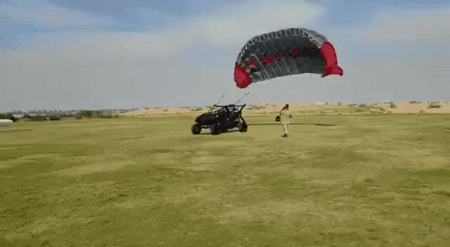 Watch and share Hooking Up A Paraglider Wing To An ATV: What Could Go Wrong? GIFs by poloralphlo on Gfycat