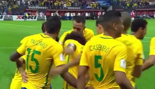 Watch and share Brasil X Paraguai Gol Philippe Coutinho Eliminatórias Para Copa Do Mundo GIFs on Gfycat