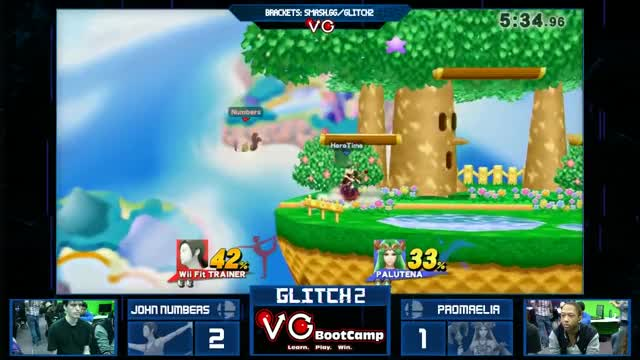 Glitch 2 Smash 4 - John Numbers (WFT) Vs. Promaelia (Corrin) SSB4 Losers Top 48 - Smash Wii U