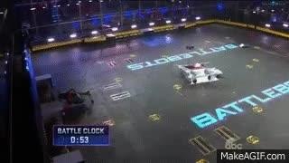 Watch and share BattleBots 2015 - Wrecks Vs Plan X GIFs on Gfycat