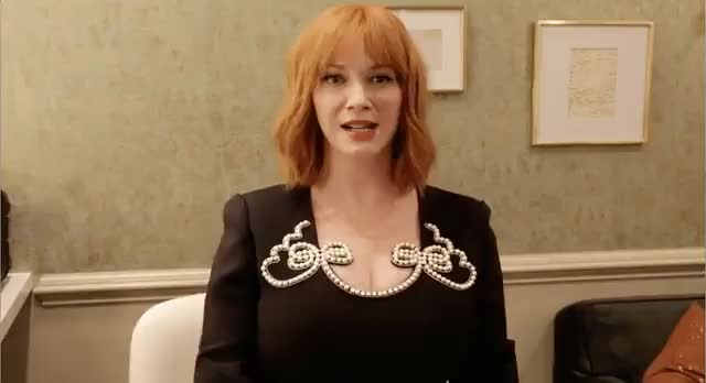 christina Hendricks doing a little shake