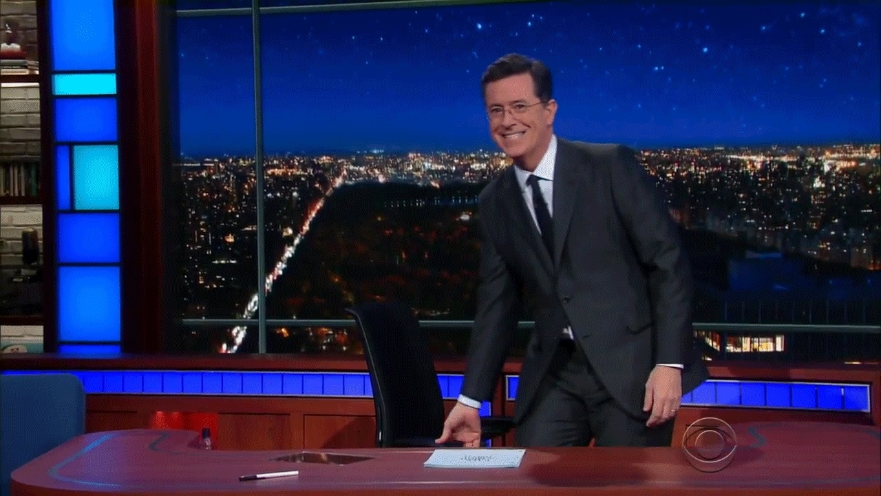celebsgifs, stephen colbert, Colbert drops his balls on the table GIFs