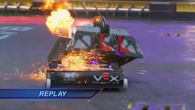 Watch Blacksmith vs. Minotaur (Rematch) -  Battlebots 2018 GIF on Gfycat. Discover more Sports, battlebots, discovery, robot GIFs on Gfycat