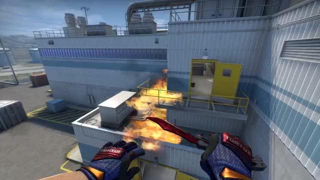 Watch and share Csgo Nuke Molotov Outside Heaven GIFs by CSGOGrenadies on Gfycat