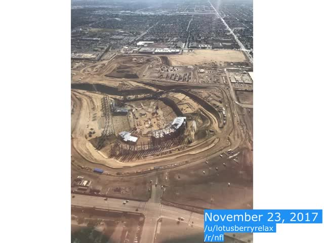 Watch and share Los Angeles Stadium: A Redditors' Collaborative Timelapse GIFs by stigmacher on Gfycat