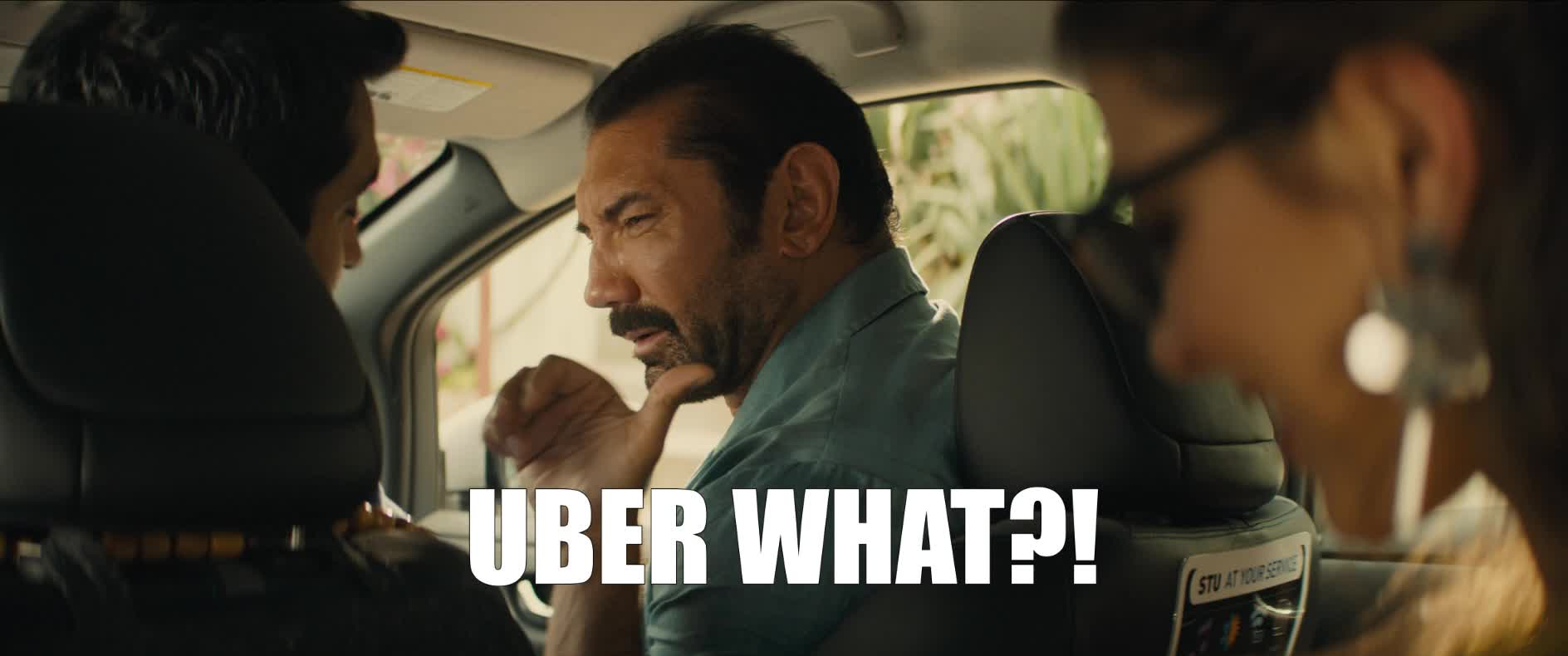 dave bautista, kumail nanjiani, stuber, stuber movie, uber, what, Uber What? GIFs