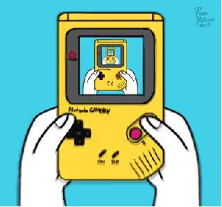 Watch and share Game Boy, Game Boy Color, Nintendo, Video Games, Cartoon animated stickers on Gfycat