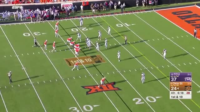 Watch and share 2017 NCAA Football Week 4: TCU At Oklahoma State GIFs by Pistols Firing on Gfycat