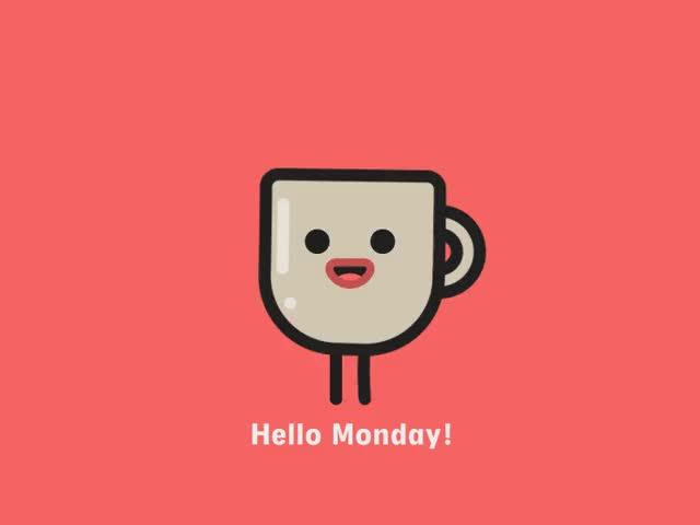 Watch this days of the week GIF by The GIF Smith (@sannahparker) on Gfycat. Discover more coffee, days of the week, hello, monday, monday feeling, mondays, mood, morning, work GIFs on Gfycat