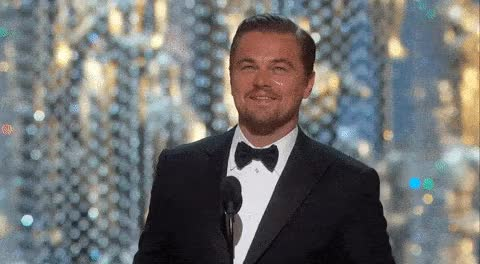 Watch Di Caprio wins 2016 Oscars ANIMATED GIF - SpeakGif GIF on Gfycat. Discover more leonardo dicaprio GIFs on Gfycat