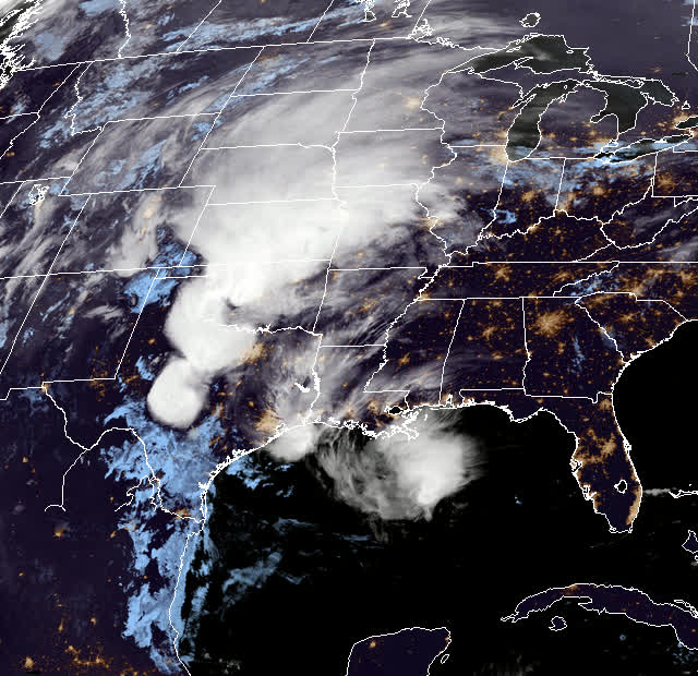 Watch and share GOES-East May 8, 201 06:50 - 19:50 UTC GIFs by The Watchers on Gfycat