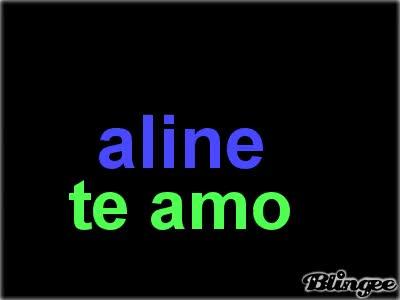 aline te amo