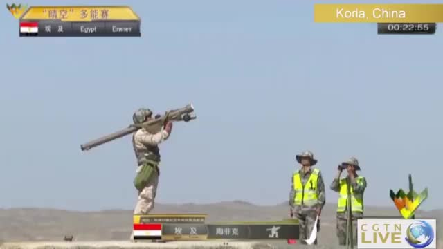 Egyptian team scores a direct hit during Clear Sky competition