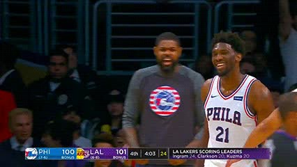 120717, Joel Embiid — Philadelphia 76ers GIFs