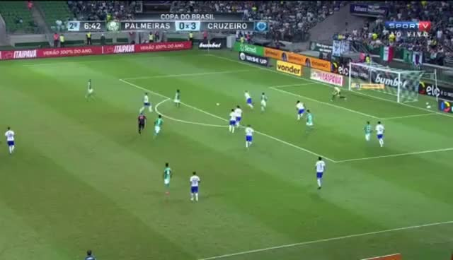 Watch and share Gol De Dudu - Palmeiras 3 X 3 Cruzeiro - Copa Do Brasil 28/06/2017 GIFs on Gfycat