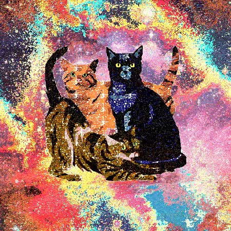 Watch and share Psychedelic Cats Cats Cats Cats Gif GIFs on Gfycat