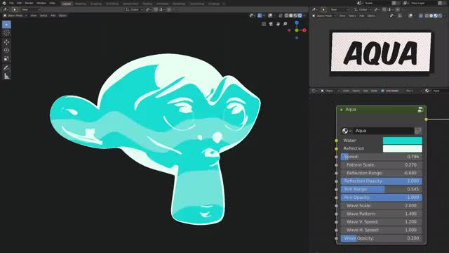 Toon shader (Blender EEVEE) | Aqua GIF | Find, Make & Share Gfycat GIFs