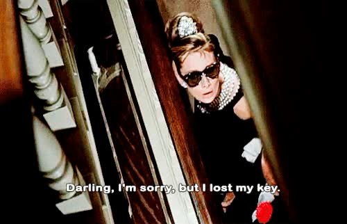 Watch this breakfast at tiffanys GIF on Gfycat. Discover more 1960s, 1961, 60s, audrey hepburn, breakfast at tiffany's, breakfast at tiffanys, film, gif, holly golightly, movie, subtitles, vintage GIFs on Gfycat