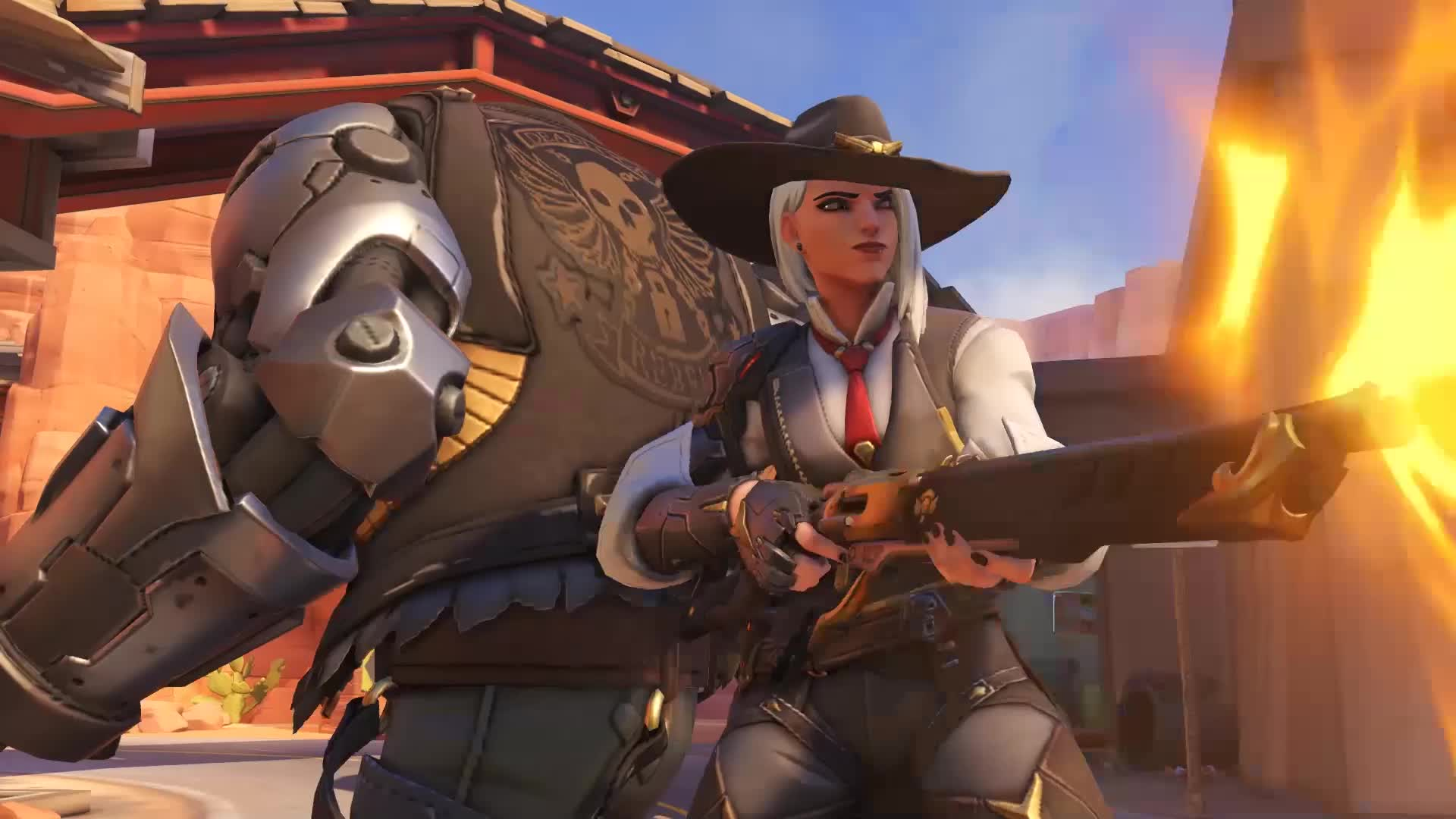 ashe, bob, highlight, overwatch, Ashe and B.O.B. enter Competitive Play! GIFs