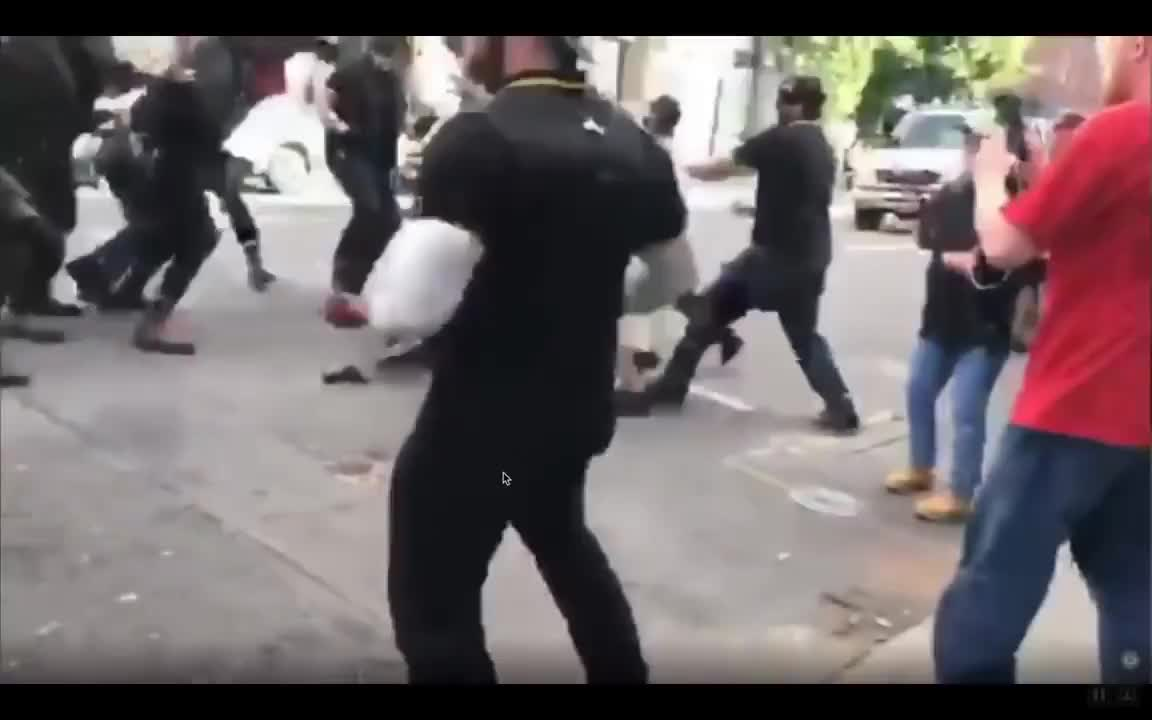 Oregon, Protest, antifa, knocked, out, portland, punched, Portland ANTIFA Gets Owned GIFs
